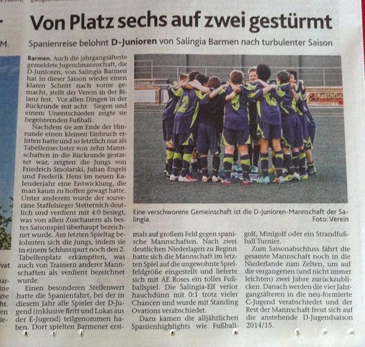 D-Jugend Zeitungsbericht